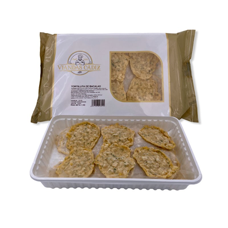Tortillitas de bacalao caja 3kg